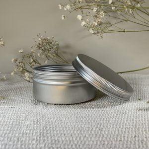 Boite aluminium savon solide Cassiopée Cosmétiques