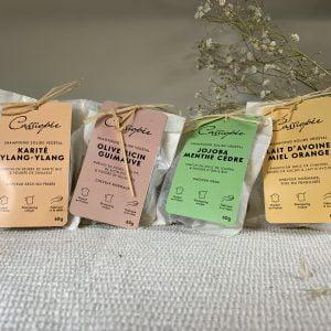 Shampoings solides pack de 4 - Cassiopée Cosmétiques