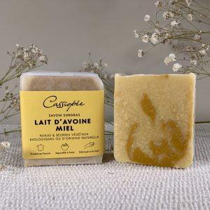 Savon Lait d'avoine miel cosmétiques naturel Cassiopée Cosmétiques