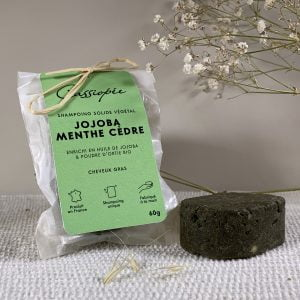 Shampoing solide Jojoba Menthe Cèdre Cassiopée Cosmétiques